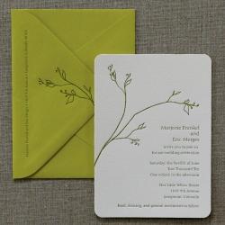 Zen branch wedding invitation 400 sweet letterpress design zen branch wedding invitation stopboris Gallery