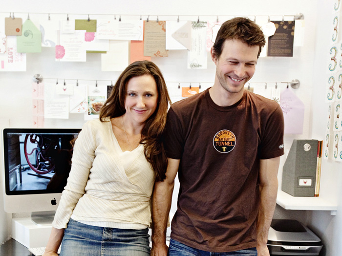 Matthew & Elizabeth E. Winheld, owners of SWEET letterpress & design