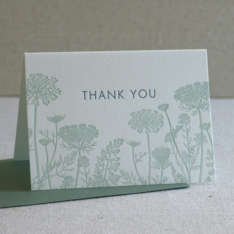 Wildflowers Thank You Notes