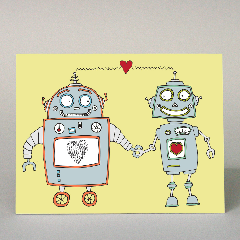 GF-102 Robots in Love (with heart)
