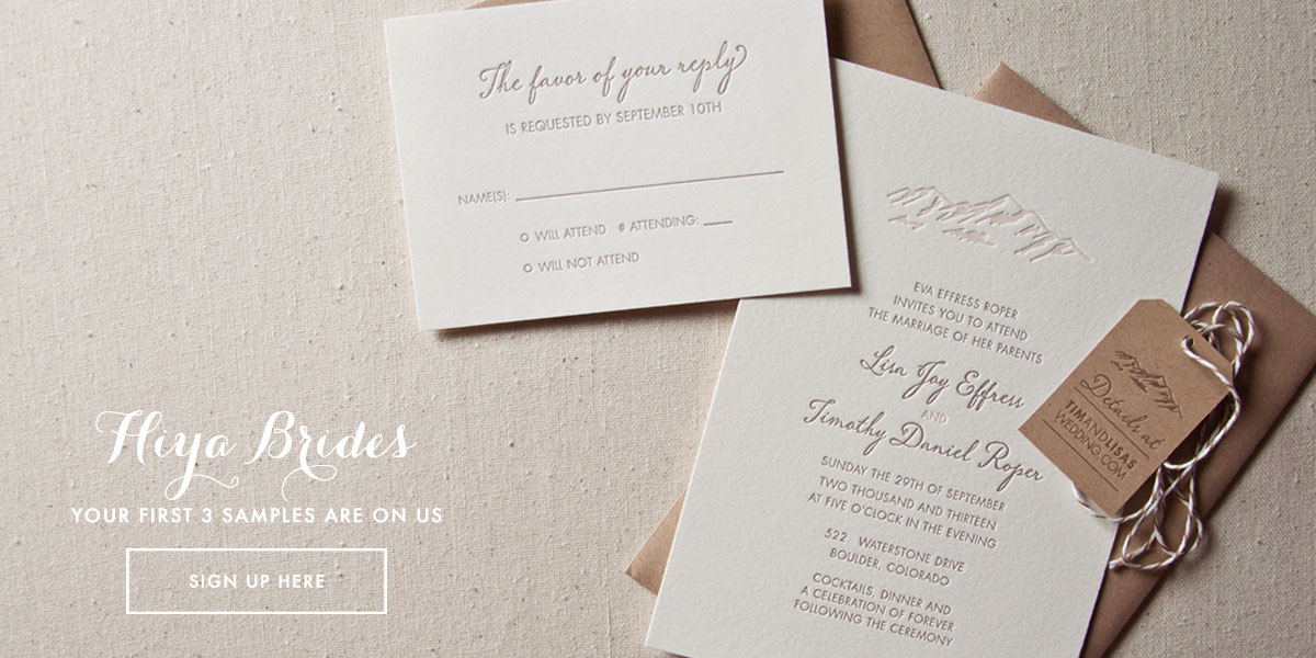 SWEET Letterpress Design Wedding Invitations Printing In Boulder Colorado