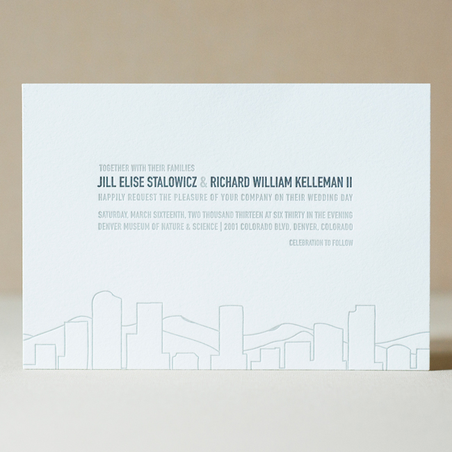 Denver Skyline Wedding Invitation