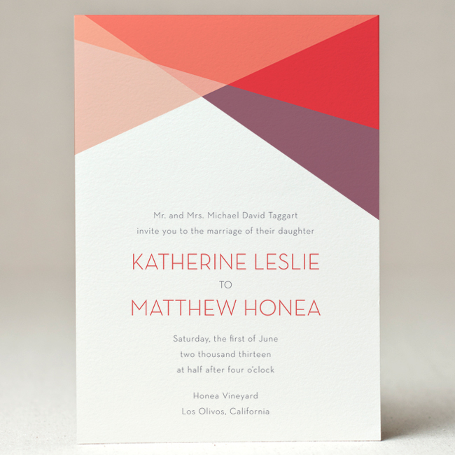 Geometry Wedding Invitation