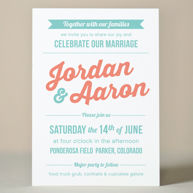 Retro Party Wedding Invitation