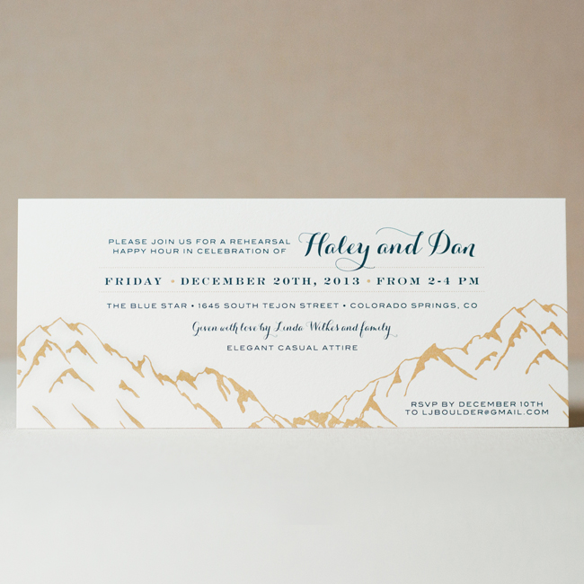 Ouray Wedding Invitation