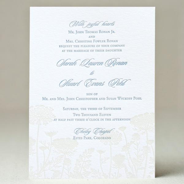 Queen Anne's Lace Wedding Invitation