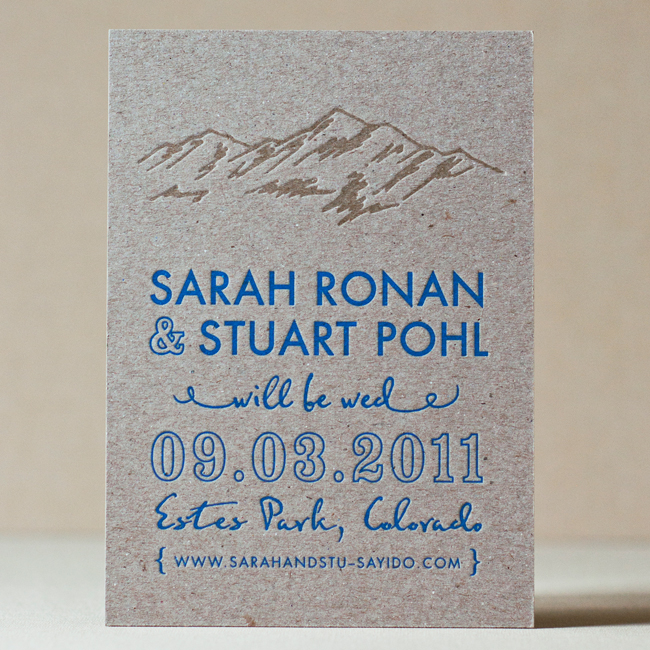 Rustic Ridgeline Wedding Invitation