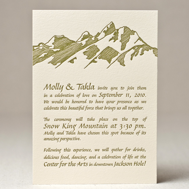 Tetons Wedding Invitation