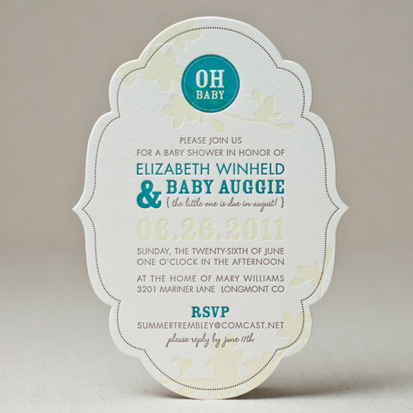 Chic Frame Invitation Sample