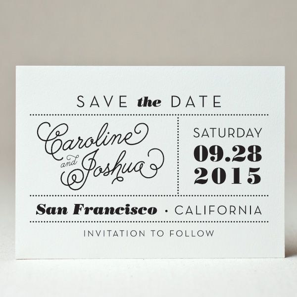 Marquee Save the Date
