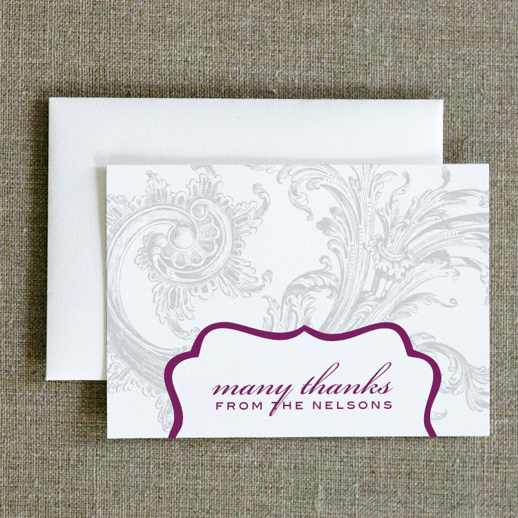 Chic Swirl Thank You Notes