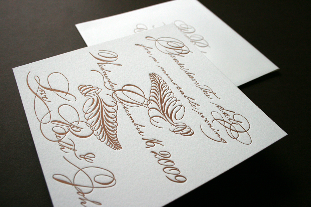 Calligraphy Meet Letterpress