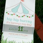 Tent with Garlands First Birthday Invitation