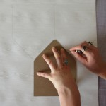 Trace your envelope liner shape onto the paper you will use