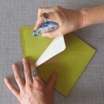 Glue the liner into the envelope on the top flap only