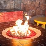 A modern firepit