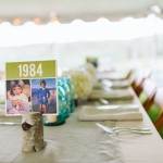 Table Numbers with Childhood Photos