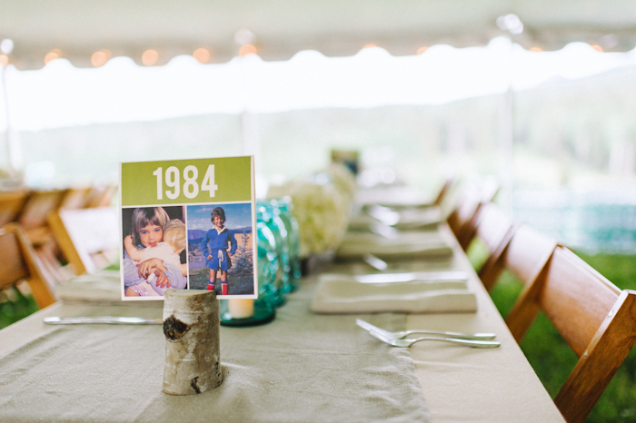 Table Numbers with Childhood Photos by SWEET letterpress & design | chowenphotography.com