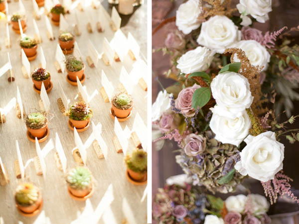 Escort Cards and Succulents