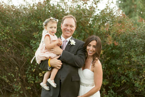 Bride, Groom and Flower Girl