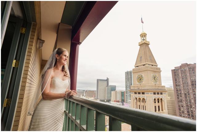 bride Denver skyline