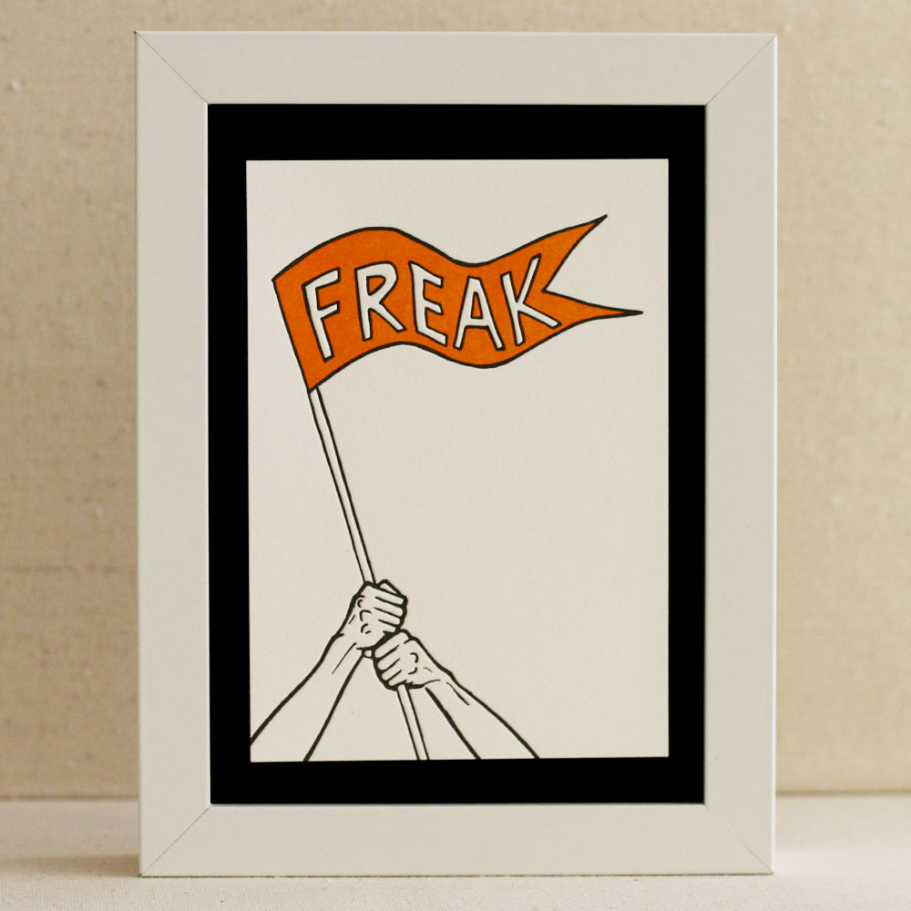 Freak Flag Letterpress Print