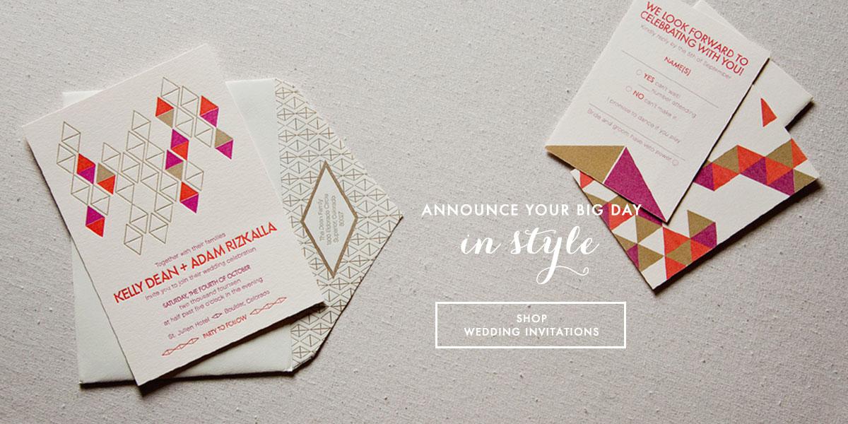SWEET Letterpress & Design, Wedding Invitations & Letterpress ...