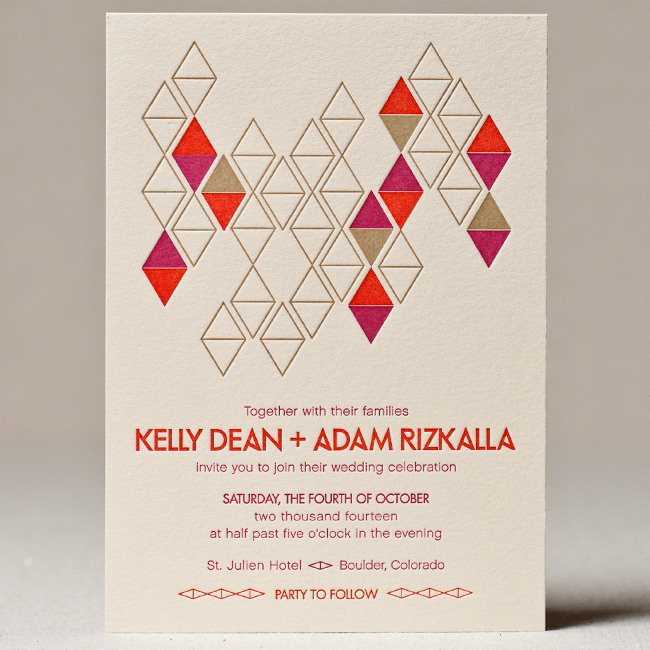 Diamonds Wedding Invitation