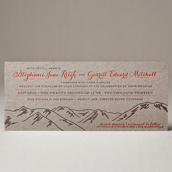 High Pass Wedding Invitation