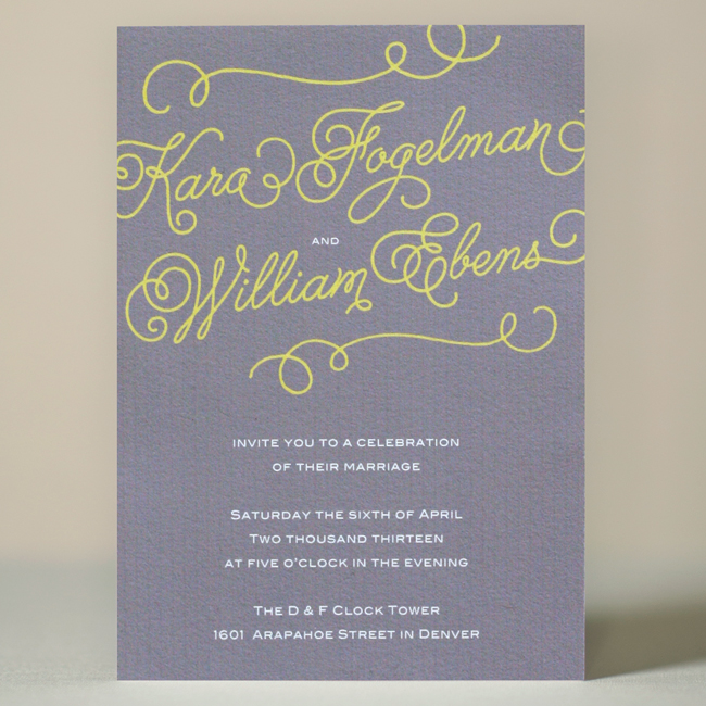 Melany Wedding Invitation