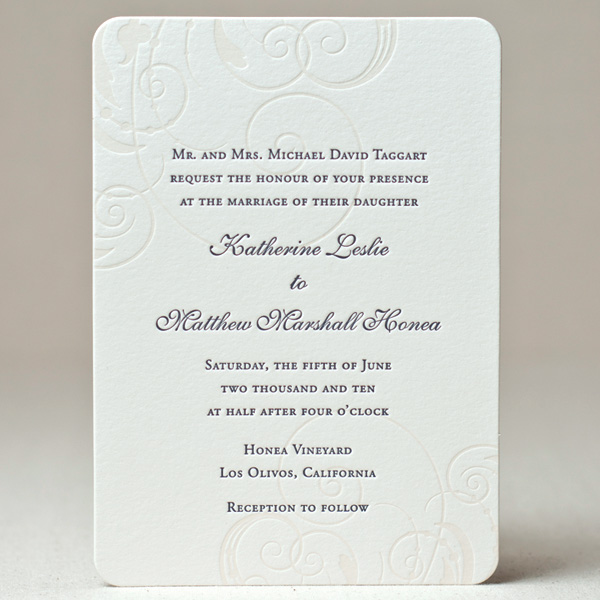 Swirling Elegance Wedding Invitation
