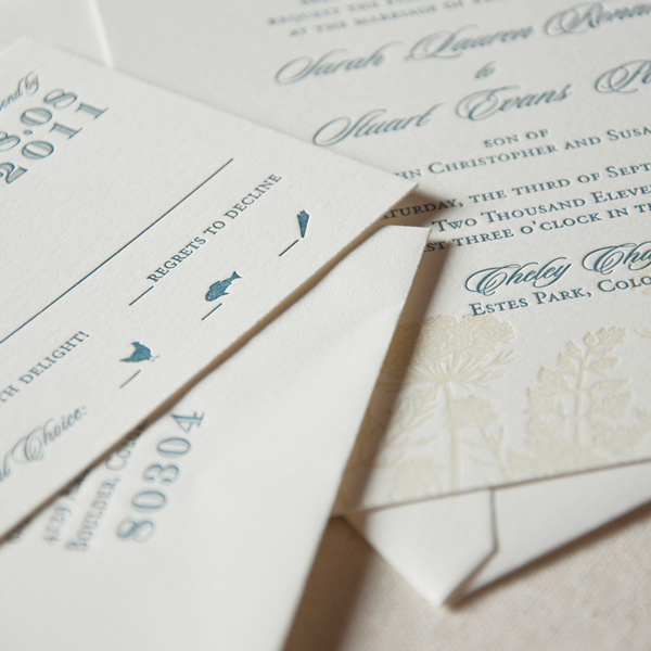 wedding invitation packages sweet letterpress design wedding