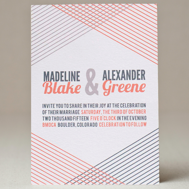 Woven Lines Wedding Invitation