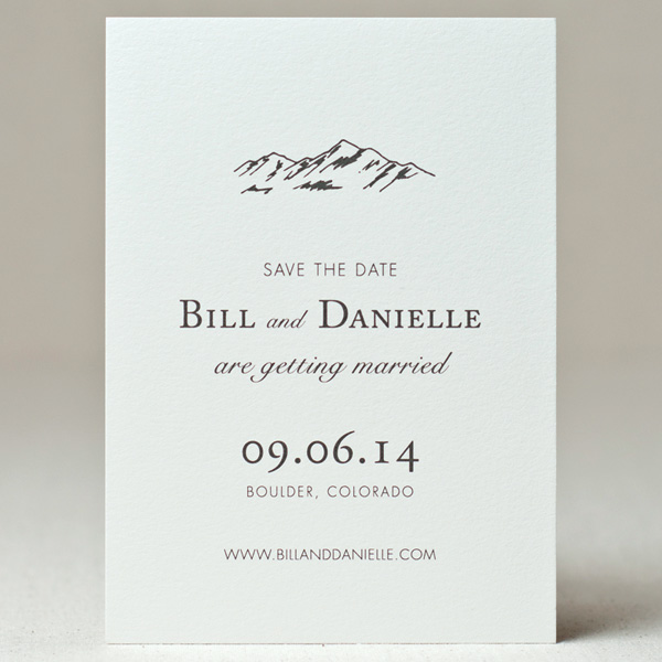 Super Save the Dates : SWEET Letterpress & Design, Wedding Invitations  CJ95