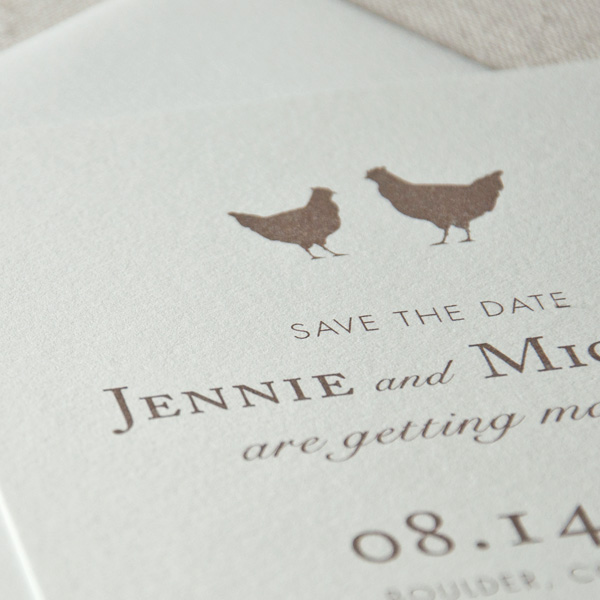 Flat Printed Save the Dates