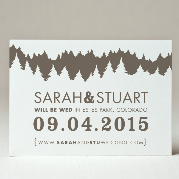 Tree Line Save the Date