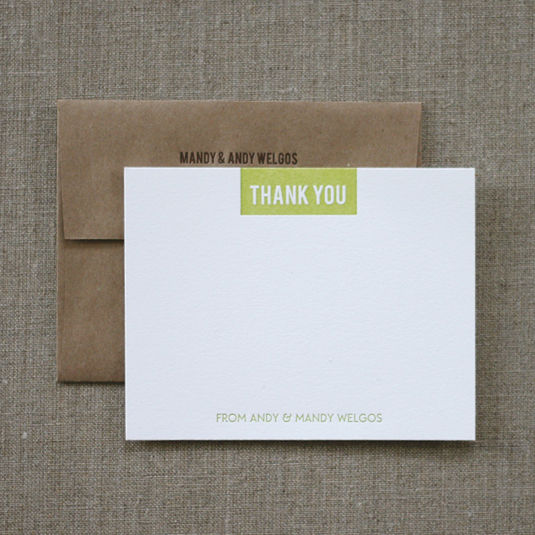 Modern Rustic Thank You Notes