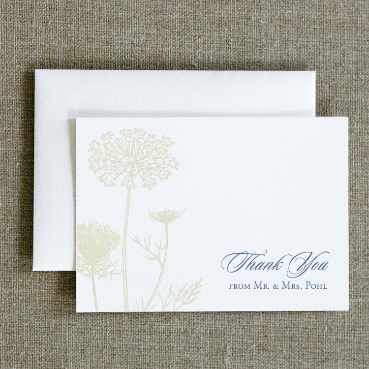 Queen Anne's Lace Thank You Notes