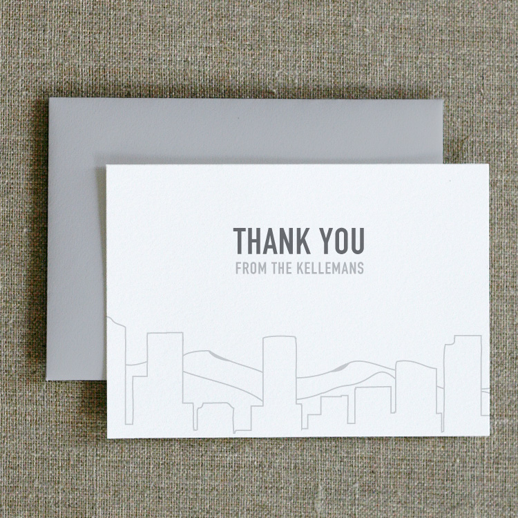 Skyline Thank You Notes