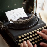 A typewriter to write notes to the bride and groom
