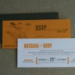 Natasha and Rory invitation suite owls faux bois