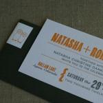 Modern invitation and envelope