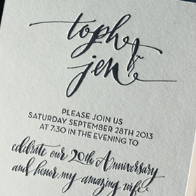 anniversary-party-invitation-custom-calligraphy