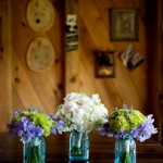 Floral Arrangements in Mason Jars