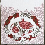 floral pop-out ornament card