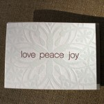 love peace joy snowflake card